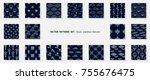 asian patterns set. kabuki.... | Shutterstock .eps vector #755676475