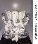 ganesha statue white color | Shutterstock . vector #755679145