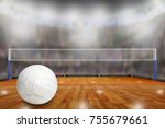 Low Angle View Of Volleyball...