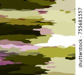 camouflage background with... | Shutterstock . vector #755681557
