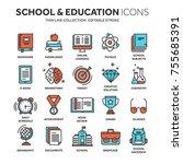 school education  university.... | Shutterstock .eps vector #755685391