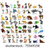 extra large set of animals...   Shutterstock .eps vector #75569158