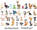 extra large set of animals | Shutterstock .eps vector #75569167