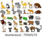 extra large set of animals... | Shutterstock .eps vector #75569173