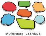 chat bubbles in a variety of... | Shutterstock . vector #75570376