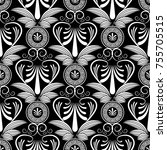 ancient grecian floral seamless ... | Shutterstock .eps vector #755705515