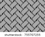 seamless pattern of braided... | Shutterstock .eps vector #755707255