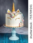a beautiful bright cake... | Shutterstock . vector #755709241
