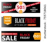 black friday sale horizontal... | Shutterstock .eps vector #755718061