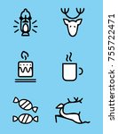 blue christmas vector icons