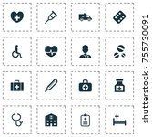 drug icons set. includes icons... | Shutterstock .eps vector #755730091