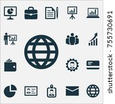 job icons set. includes icons... | Shutterstock .eps vector #755730691
