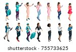qualitative isometry  a set of... | Shutterstock .eps vector #755733625