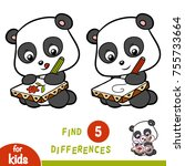 find differences  education... | Shutterstock .eps vector #755733664