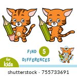 find differences  education... | Shutterstock .eps vector #755733691