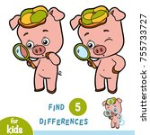 find differences  education... | Shutterstock .eps vector #755733727