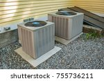 heating and air conditioning... | Shutterstock . vector #755736211