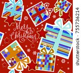 christmas  decoration ...   Shutterstock . vector #755736214