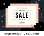 sale sign design in... | Shutterstock .eps vector #755736985