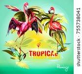 template illustration of... | Shutterstock .eps vector #755738041