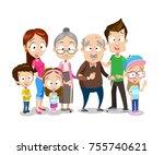 vector illustration of big... | Shutterstock .eps vector #755740621