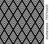 seamless diamonds geometric... | Shutterstock .eps vector #755741635