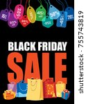 black friday sale. colorful... | Shutterstock .eps vector #755743819