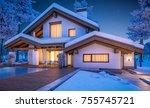 3d rendering of modern cozy... | Shutterstock . vector #755745721