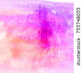 Abstract Pink Purple Watercolo...
