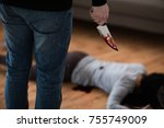 murder  kill and people concept ... | Shutterstock . vector #755749009