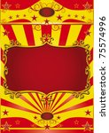 Poster frame circus. Circus background with a red frame for your circus show. - stock photo