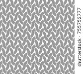 seamless pattern with weave... | Shutterstock .eps vector #755752777