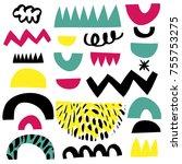 design for poster  card ... | Shutterstock .eps vector #755753275