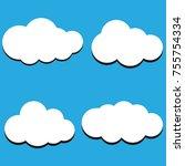 vector illustration of clouds... | Shutterstock .eps vector #755754334