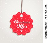 christmas offer badge | Shutterstock .eps vector #755755825