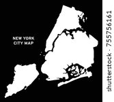 new york city map vector | Shutterstock .eps vector #755756161