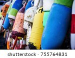 a photo of buoys in southwest... | Shutterstock . vector #755764831