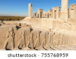 stairway to palace of xerxes... | Shutterstock . vector #755768959