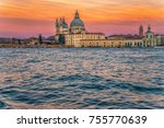 grand canal and church saint... | Shutterstock . vector #755770639