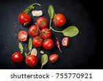 Branch Ripe Raw Tomatoes ...