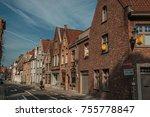 bruges  belgium   july 05  2017.... | Shutterstock . vector #755778847