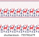 winter festive christmas... | Shutterstock .eps vector #755781679