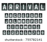 alphabet font template. set of... | Shutterstock .eps vector #755782141