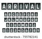 alphabet font template. set of... | Shutterstock .eps vector #755782141