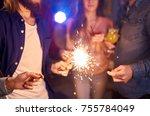 group of friends having fun...   Shutterstock . vector #755784049
