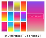 set of soft colorful gradients...
