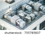 air condition system on the... | Shutterstock . vector #755785837