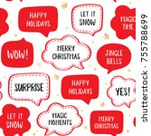 seamless holiday pattern of... | Shutterstock .eps vector #755788699