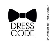 dress code icon vector | Shutterstock .eps vector #755790814