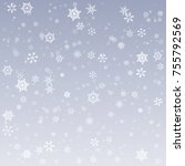 snowflake vector. falling...   Shutterstock .eps vector #755792569